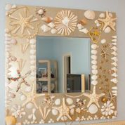 "24"" x 24"" hand crafted shell Mirror"